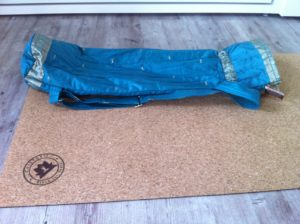 My sustainable yoga mat and up-cycled carry bag.