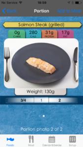 Nutritional information of fresh salmon.